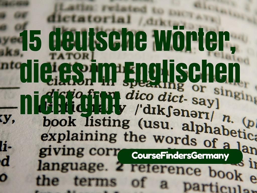 15 deutsche Wörter, die es im Englischen nicht gibt