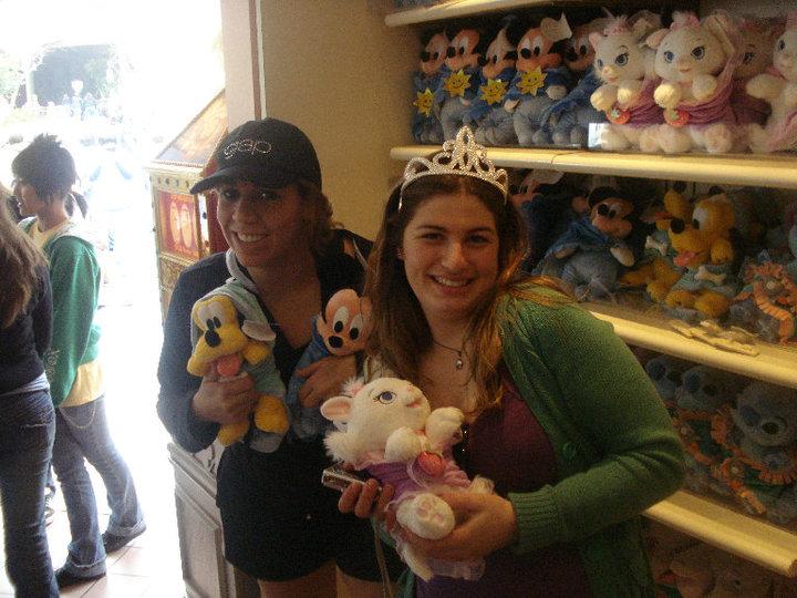 Anna na Disneyland, Califórnia.