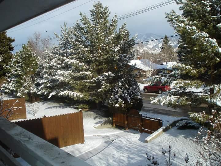 Vista do inverno em Bozeman.