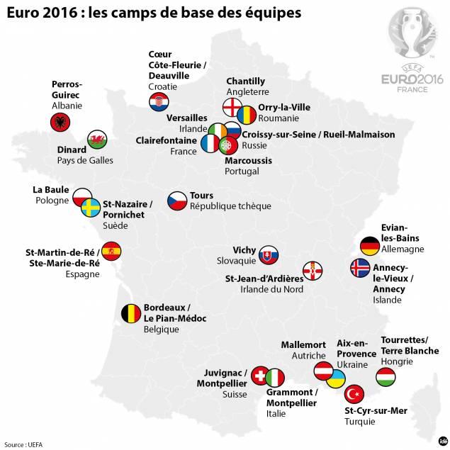 Carte euro 2016
