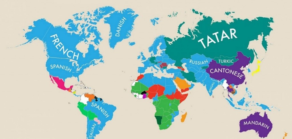 carte des deuxièmes langues