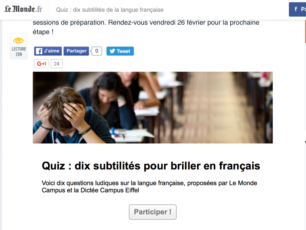 Quiz français lemonde