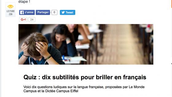 Quiz français lemonde