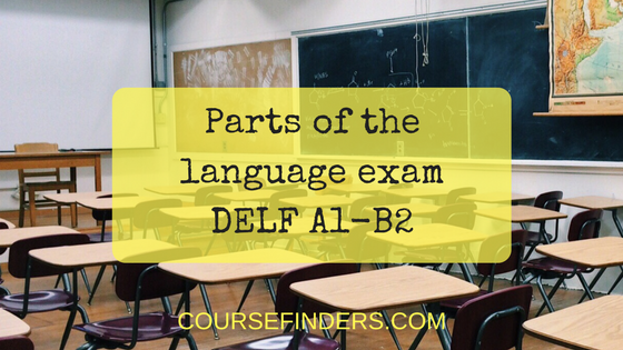 Parts of thelanguage exam DELF A1-B2