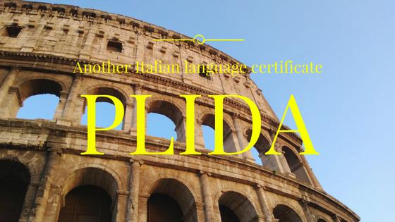 Another Italian language certificate PLIDA
