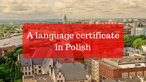 A language certificatein Polish
