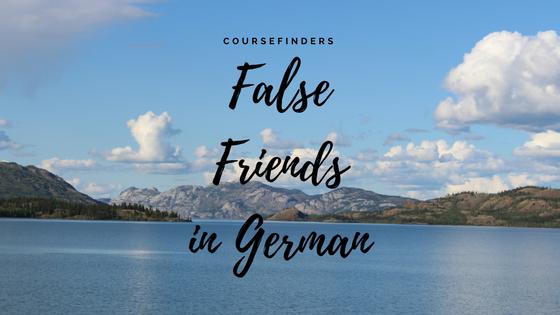 False Friends in German