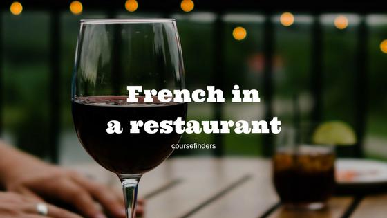 French ina restaurant