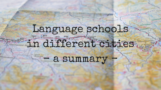 Language schools in different cities - a summary