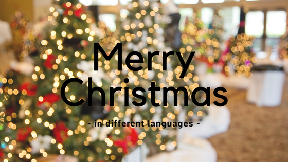 Merry Christmas - in different languages