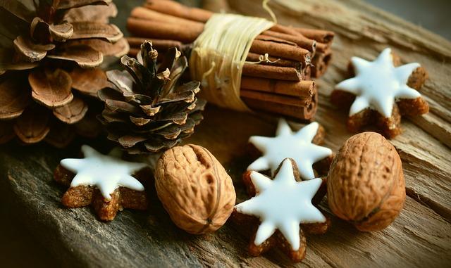 orzechy włoskie świąteczne ciasteczka cynamon