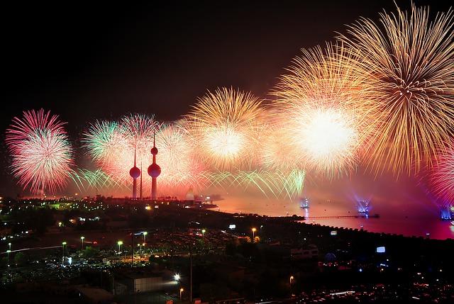 fajerwerki w Kuwejcie