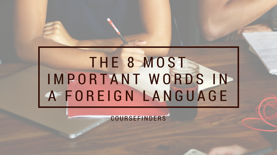 The 8 most important words in a foreign language