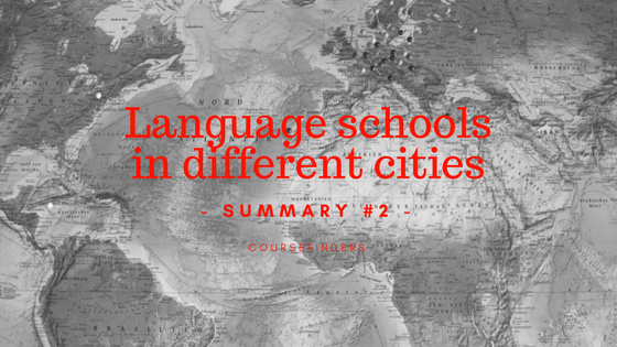 Language schools in different cities - summary #2