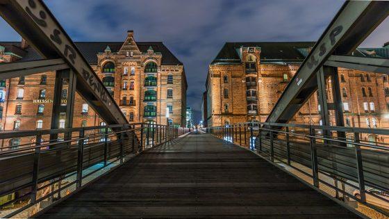 town and bridge