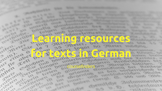 Learning resourcesfor texts in German