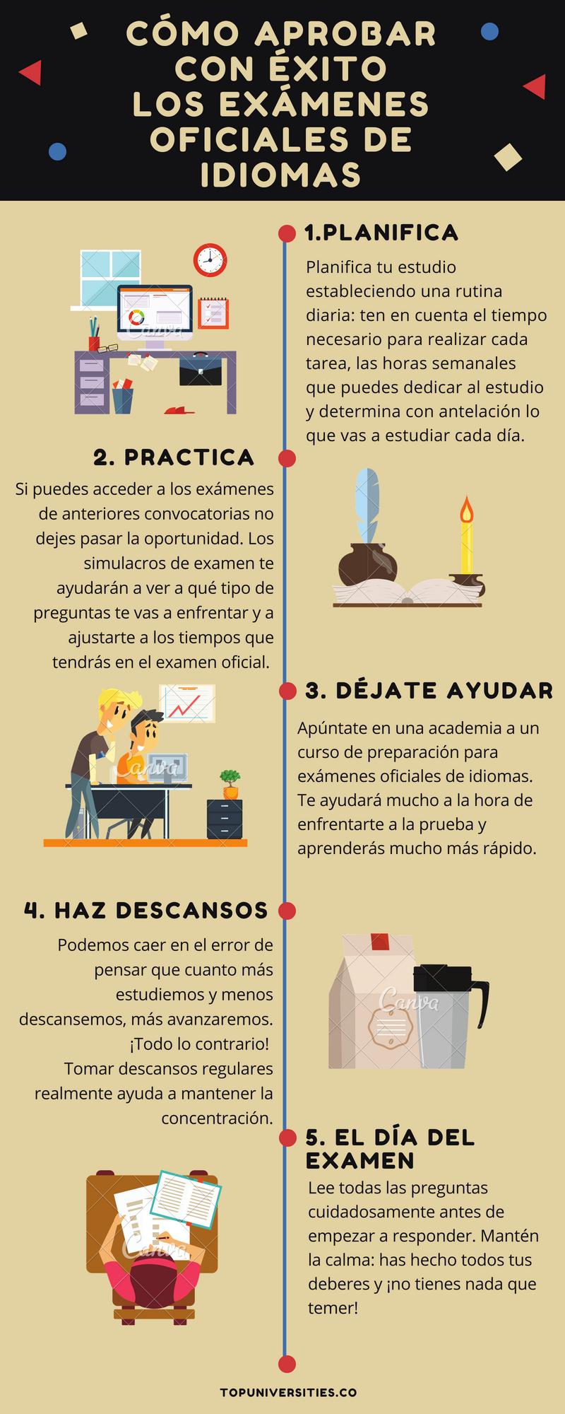 Como aprobar con éxito los exámenes oficiales de idiomas