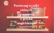Porównaj wyniki różnych egzaminów z języka angielskiego