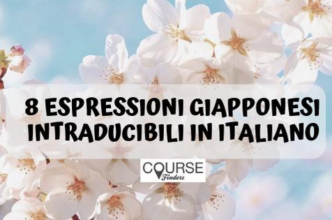 espressioni giapponesi intraducibili in italiano