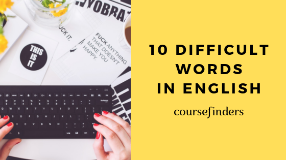 writing difficult words in English