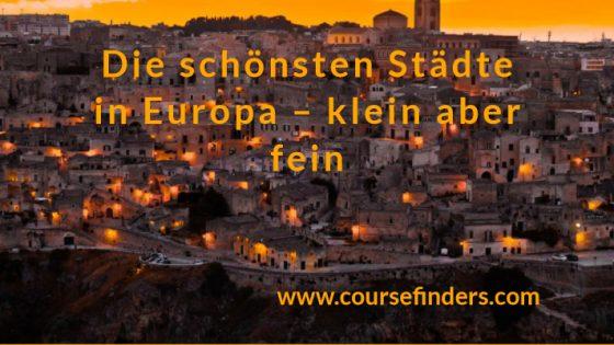 die schönsten Städte in Europa